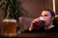 A Saturday pint